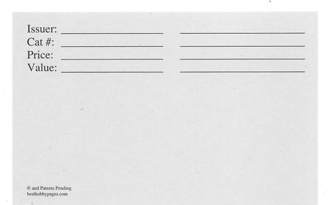 Replacement Cards for 4-Pocket Envelope Long Side Pack of 25