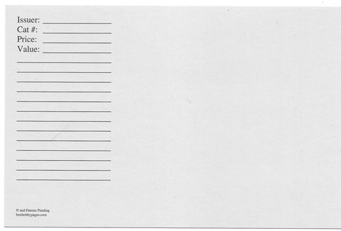 Replacement Cards For Jumbo 2-Pocket Envelope Pack of 25