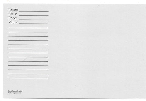 Replacement Cards for 2-Pocket Envelope Pack of 25