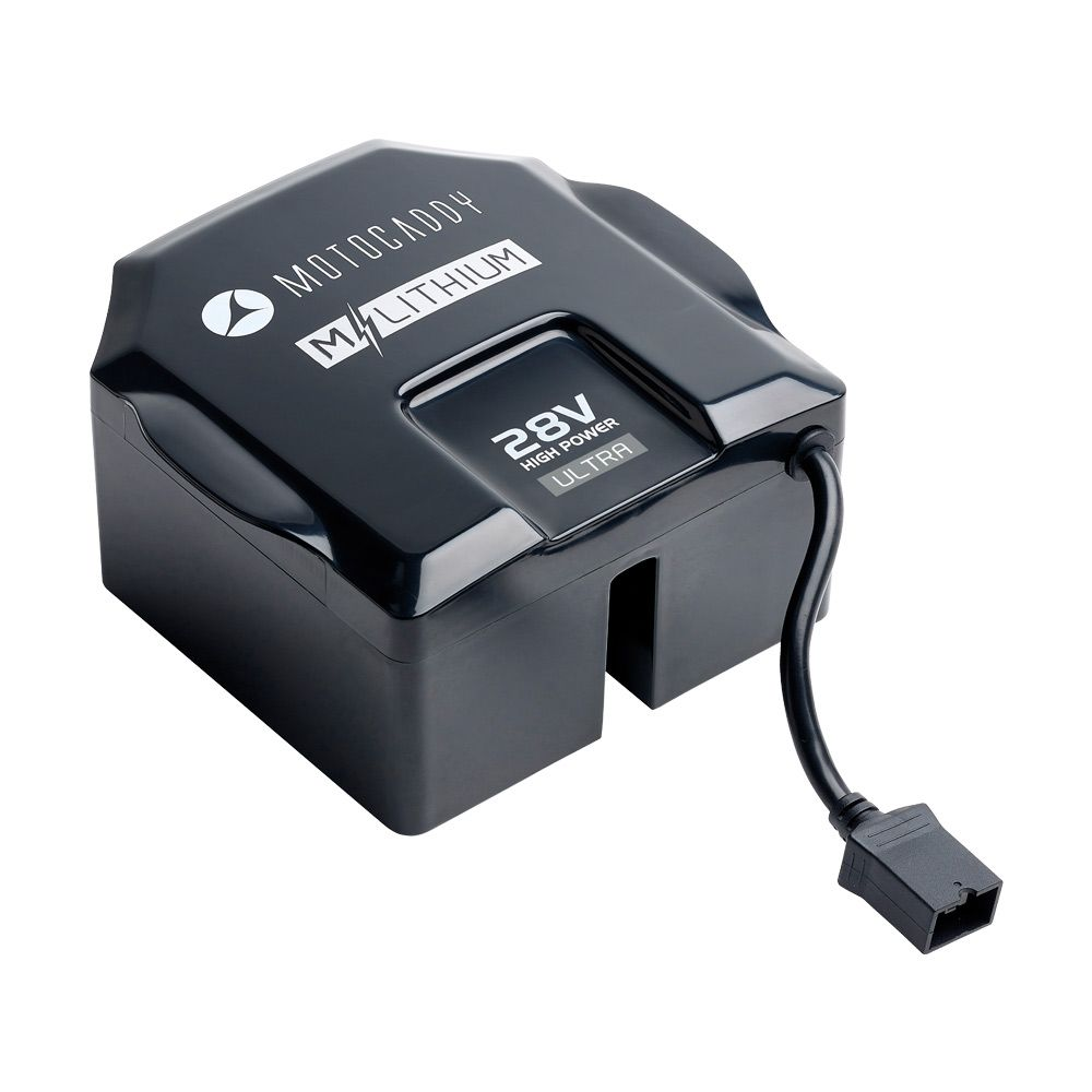 Motocaddy M-Series 28V Lithium Battery & Charger - Extended Range - ElectricTrolleys.com