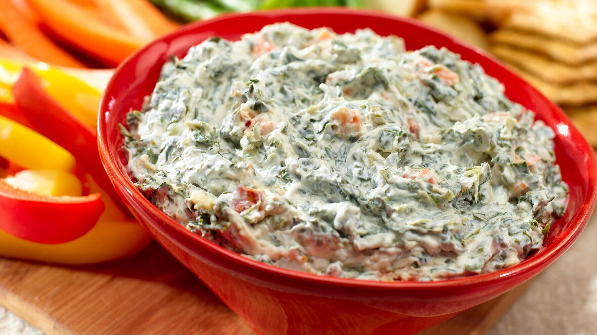 Kicked Up Spinach Dip