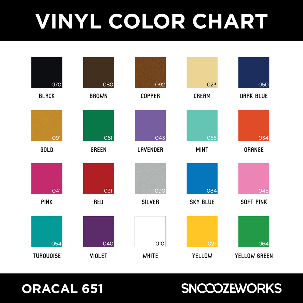 SnooozeWorks - Color Chart