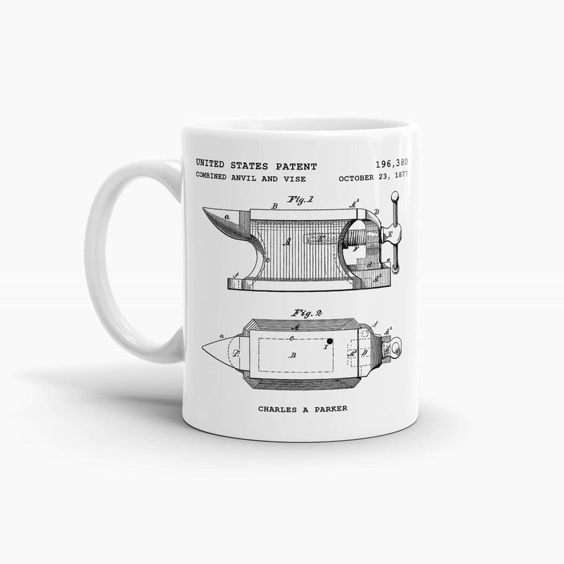 Anvil and Vise Patent Coffee Mug; Occupation Drinkware