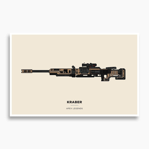 Apex Legends - Kraber Illustration; Gaming Poster