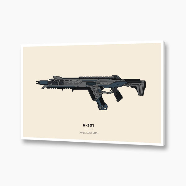 Apex Legends - R-301 Illustration; Gaming Poster