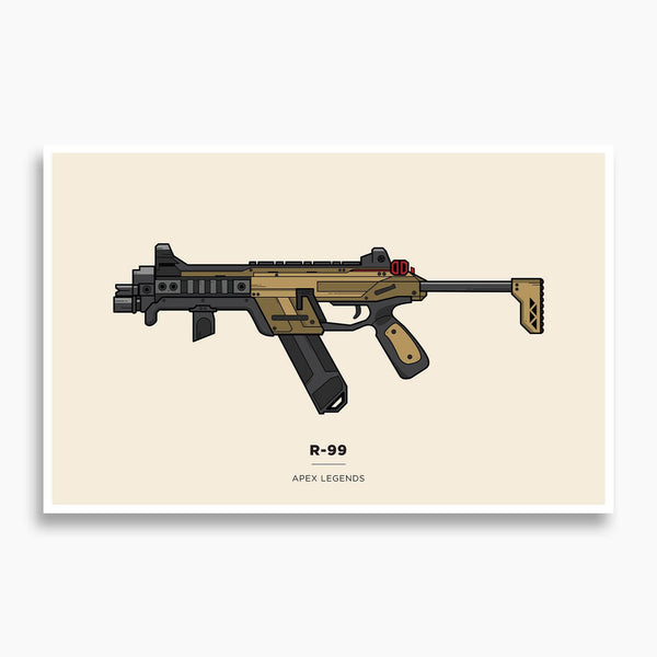 Apex Legends - R-99 Illustration; Gaming Poster