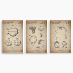 Basketball Patent Poster Collection; Patent Artwork