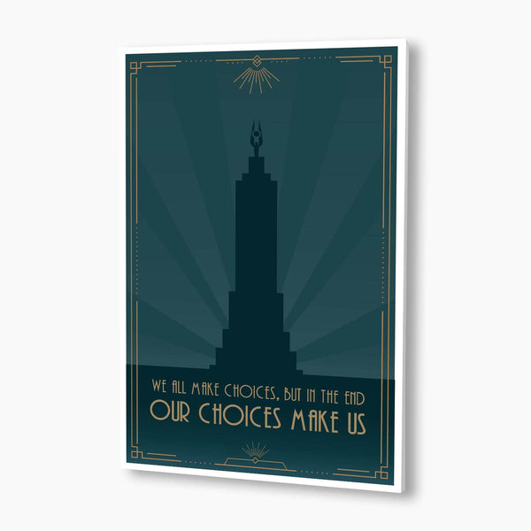 Bioshock - We All Make Choices Lighthouse Poster; Gaming Decor