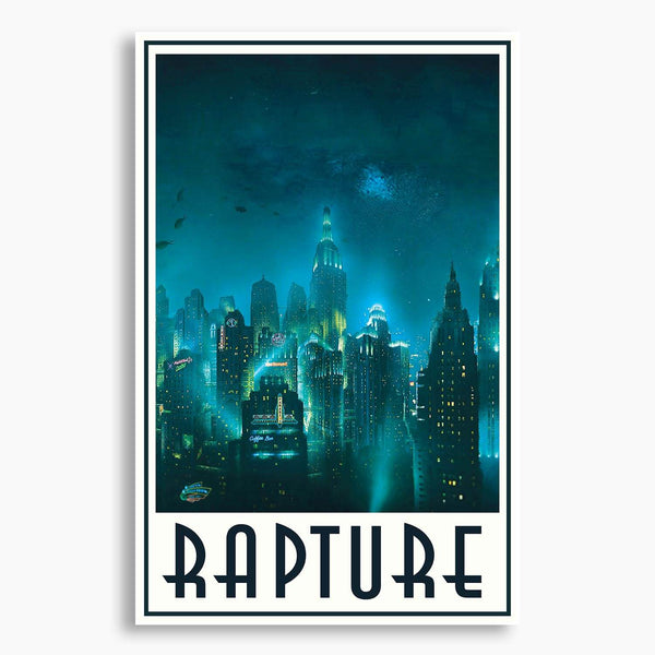 Bioshock - Rapture Skyline Poster; Gaming Decor