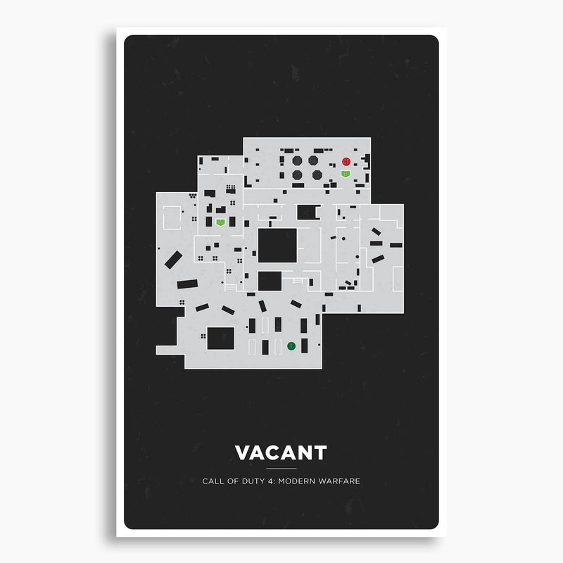 Call of Duty - Vacant Map Print; Gaming Poster