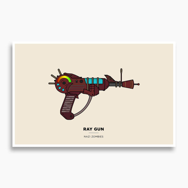 Call of Duty - Ray Gun Illustration Poster; Nazi Zombies Poster