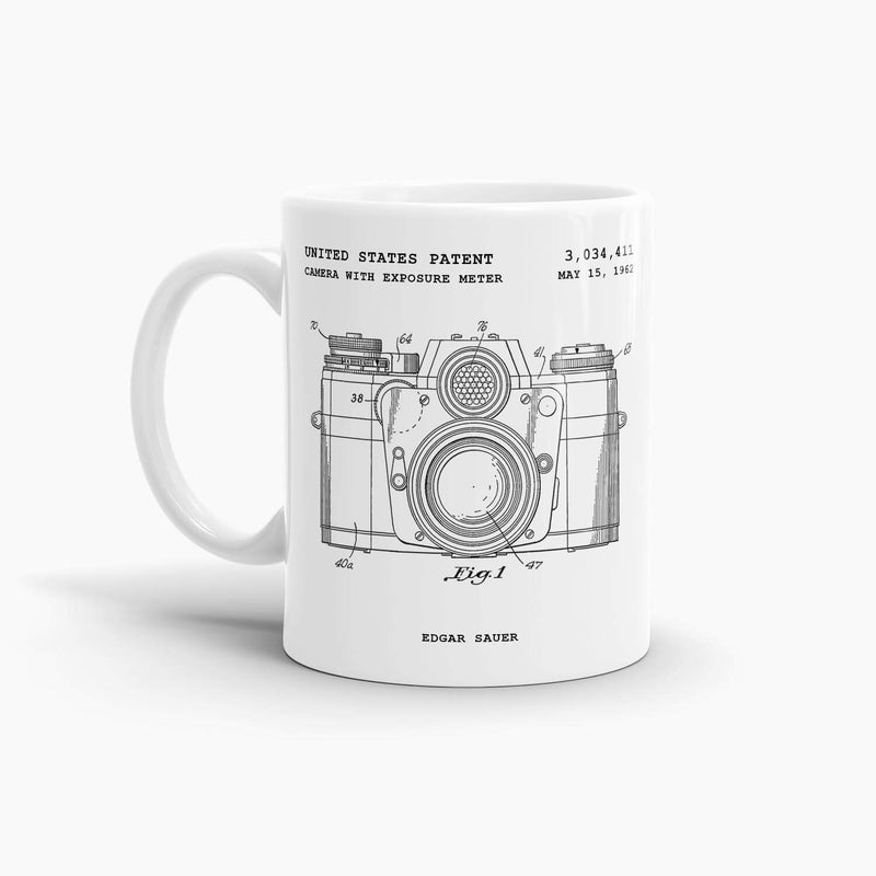 Camera with Exposure Meter Patent Coffee Mug