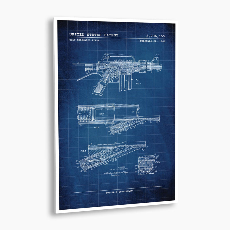 Colt Automatic Rifle Patent Poster; Patent Artwork