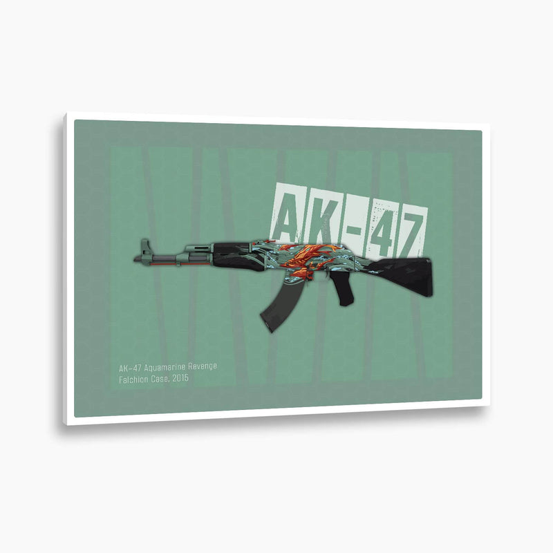 Counter-Strike: Global Offensive - AK-47 Aquamarine Revenge Poster