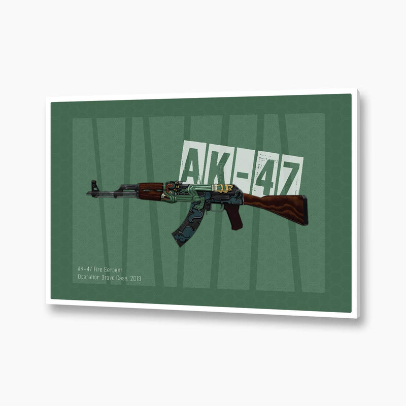 CSGO - AK47 Fire Serpent Poster; Gaming Decor