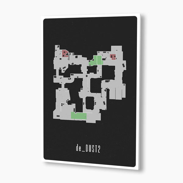 CSGO - Dust 2 Map Poster; Gaming DecorCounter-Strike: Global Offensive - Dust 2 Map Poster