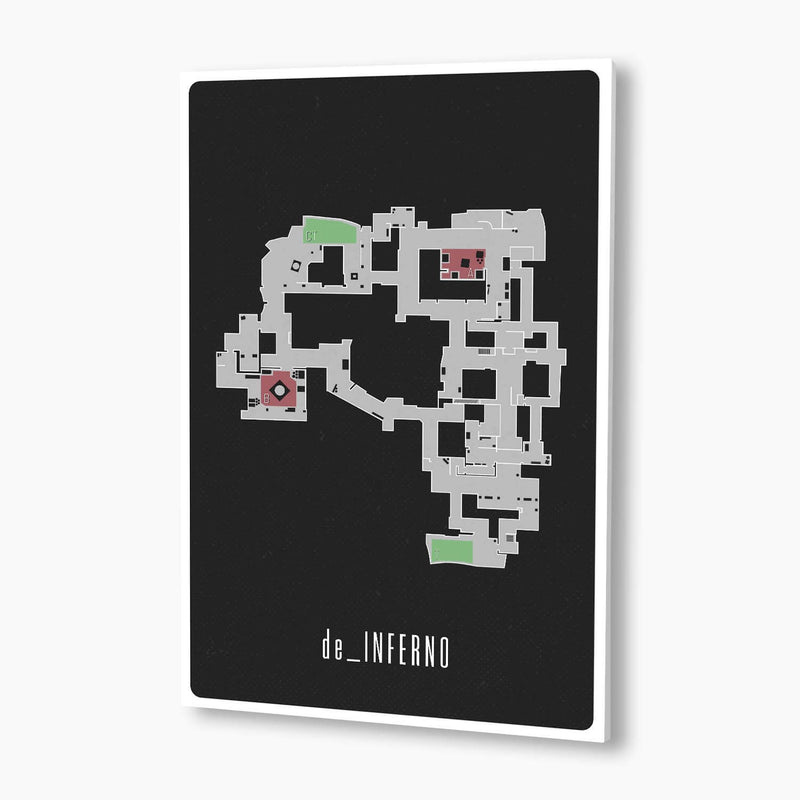 CSGO - Inferno Map Poster; Gaming Decor