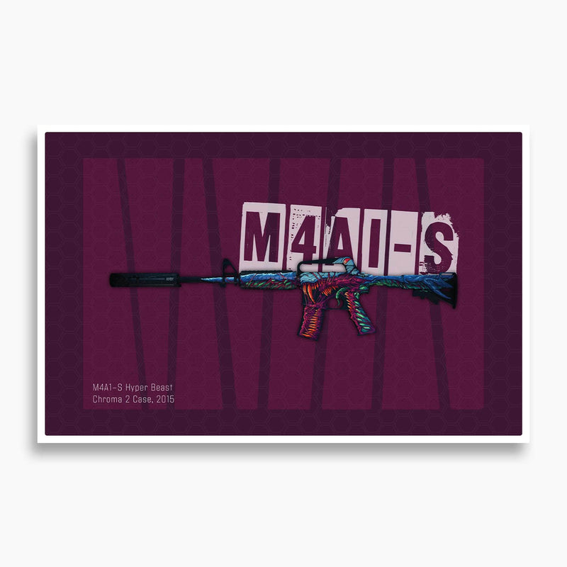 CSGO - M4A1-s Hyperbeast Poster; Gaming Decor