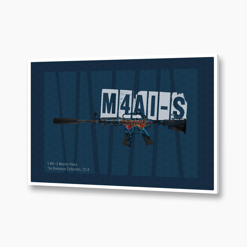 CSGO - M4A1-s Masterpiece Poster; Gaming Decor