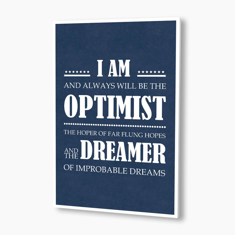 Doctor Who - I Am The Optimist Poster; Pop Culture Poster