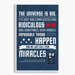 Doctor Who - Impossible Things Happen Poster; Pop Culture Decor