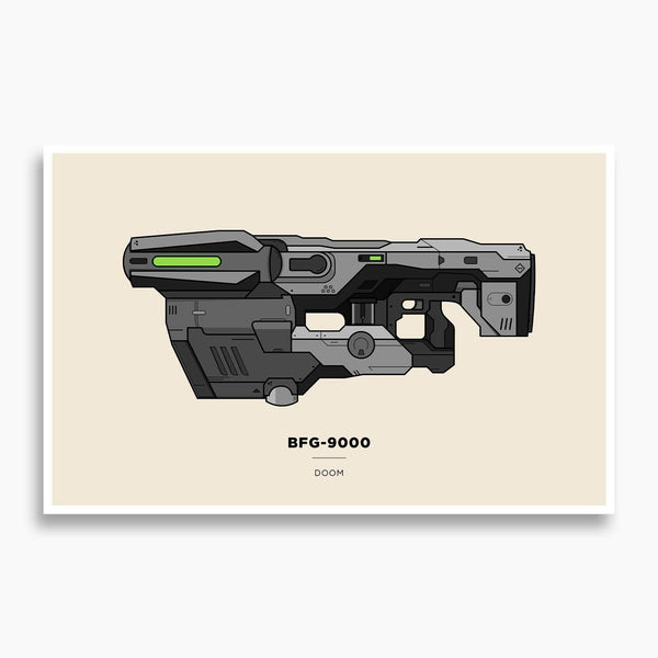 Doom - BFG9000 Illustration; Gaming Poster