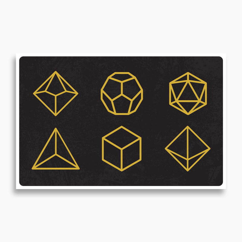 Dungeons and Dragons D20 Dice Poster