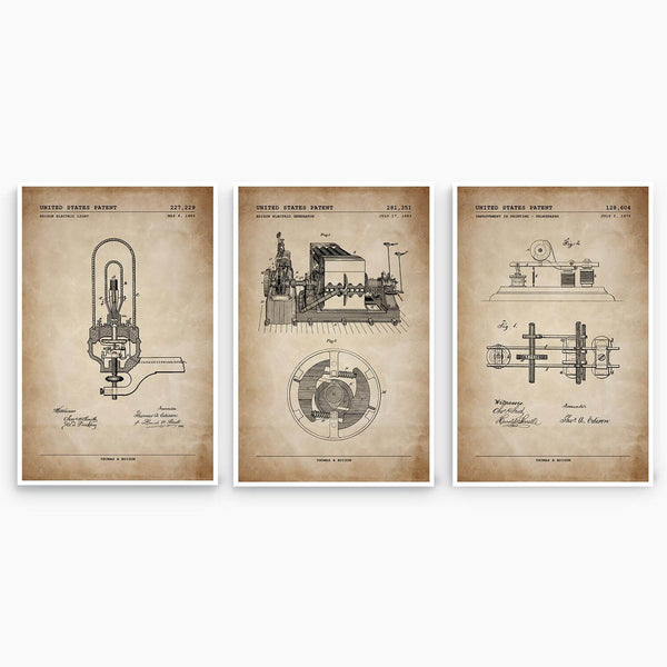 Edison Patent Poster Collection; Patent Artwork