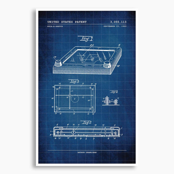 Etch-A-Sketch Patent Poster; Patent Artwork
