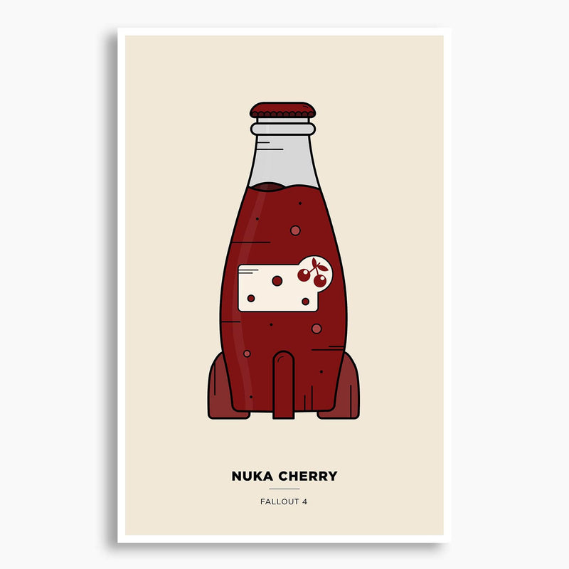 Fallout 4 - Nuka Cherry Illustration Poster; Gaming Poster