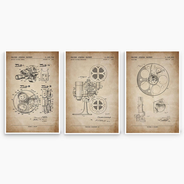 Film Patent Poster Collection; Patent Artwork
