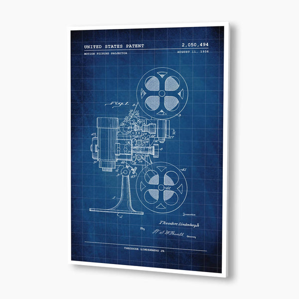 Film Projector Patent Poster; Patent Artwork