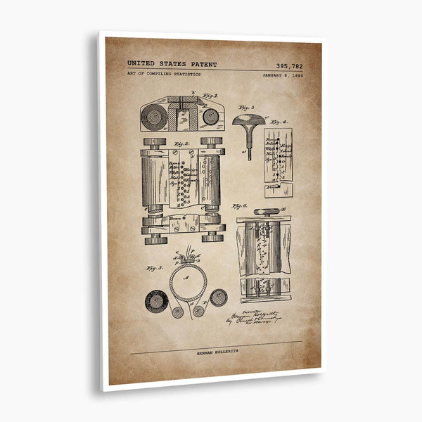 First Computer Patent Poster; Patent Artwork