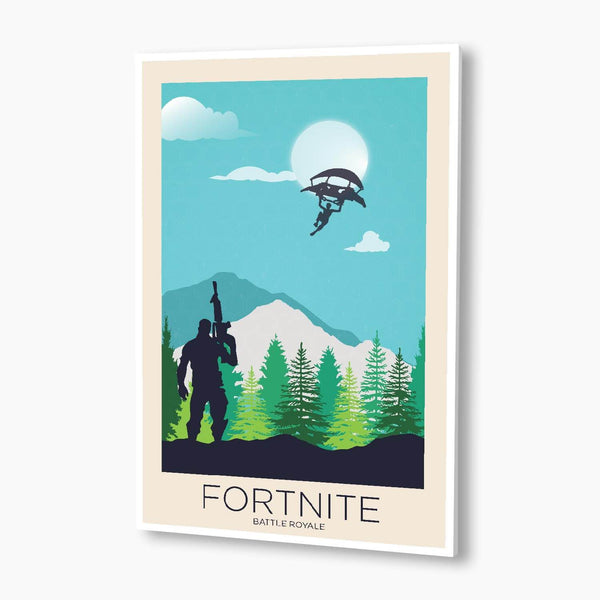 Battle Royale Landscape Illustration Poster