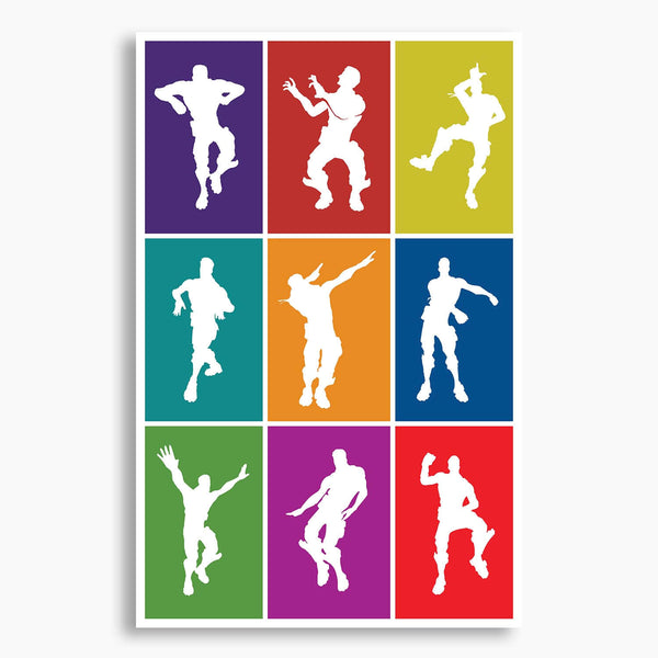 Pop Art Dances Vector Illustration Poster; Gaming Artwork