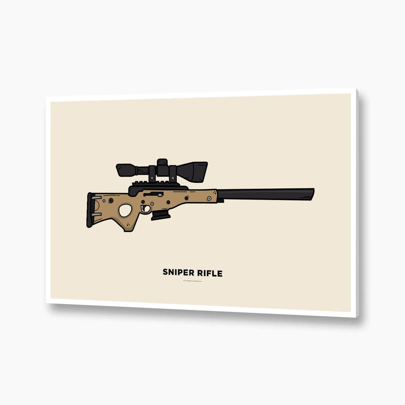 Fortnite - Sniper Rifle Illustration; Gaming Poster