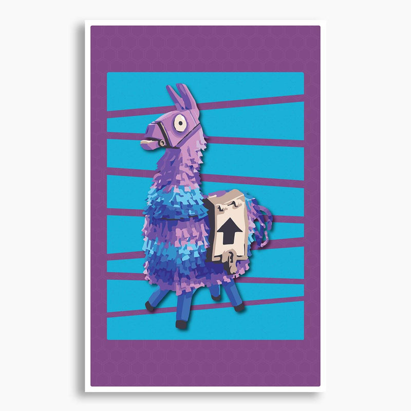 Fortnite Supply Llama Poster; Gaming Decor