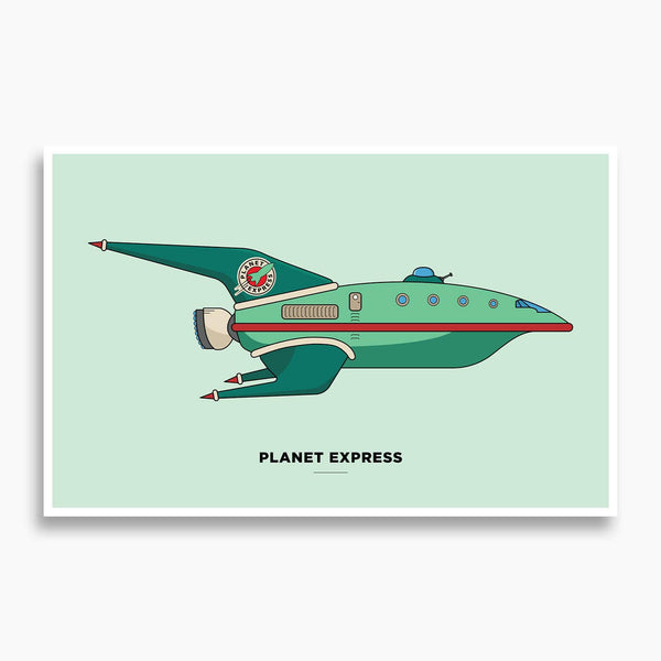 Futurama - Planet Express Ship Vector Illustration
