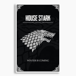 Game of Thrones - House Stark Poster; Pop Culture Decor