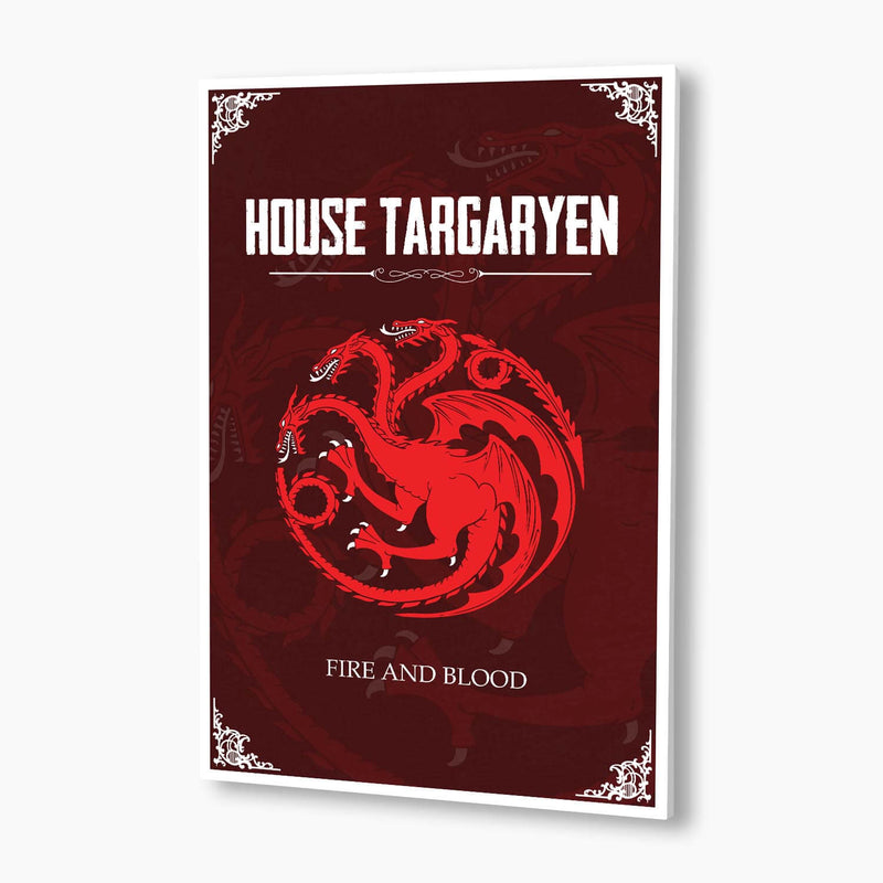 Game of Thrones - House Targaryen Crest Poster; Pop Culture Decor