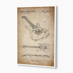 Ibanez Electric Guitar Patent Poster; Patent Artwork