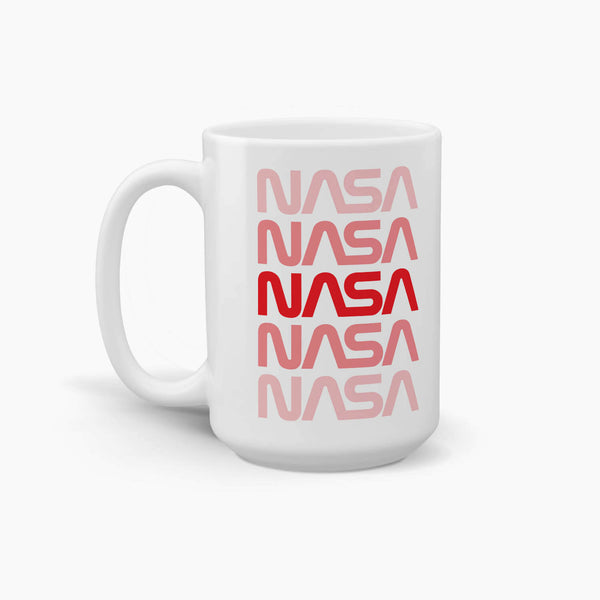 NASA Repeating Worm Logo Coffee Mug; Premium NASA Coffee Mugs