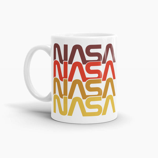 NASA Retro Worm Logo Coffee Mug; Premium NASA Coffee Mugs