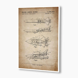 NASA Space Shuttle Patent Poster; Patent Artwork