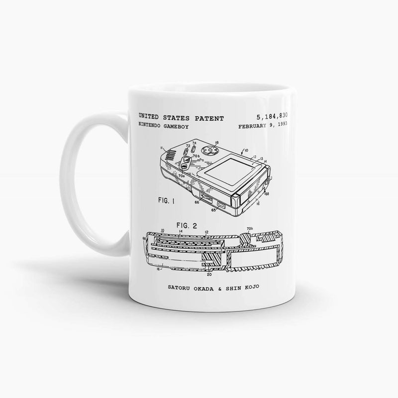 Nintendo Game Boy Patent Coffee Mug; Premium Patent Drinkware