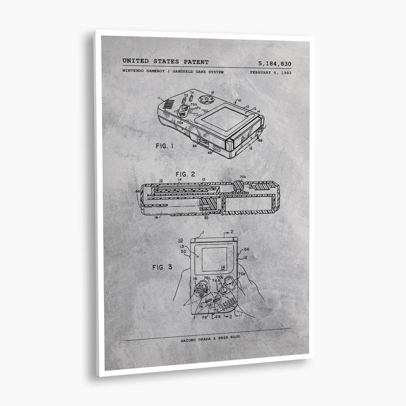 Nintendo GameBoy Patent Poster; Patent Artwork