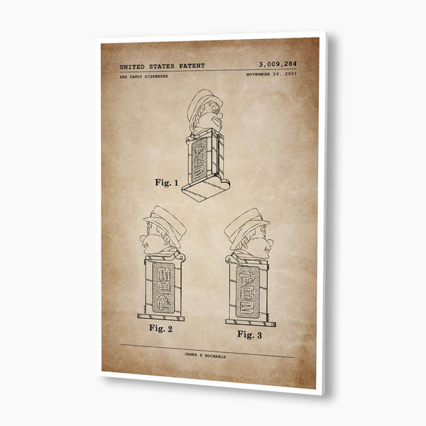 Pez Dispenser Patent Poster; Patent Artwork