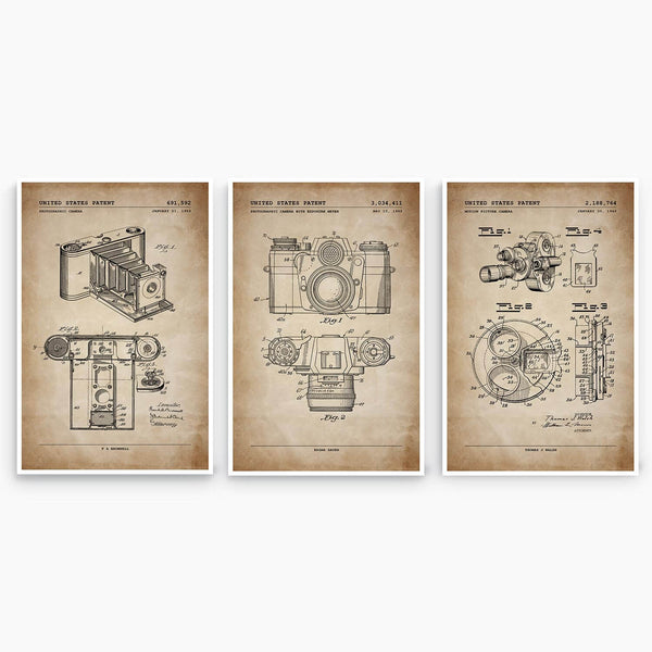 Early Photography Patent Poster Collection; Patent Artwork