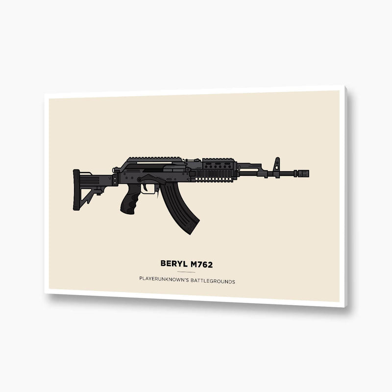 PUBG - Beryl M762 Illustration; Gaming Decor