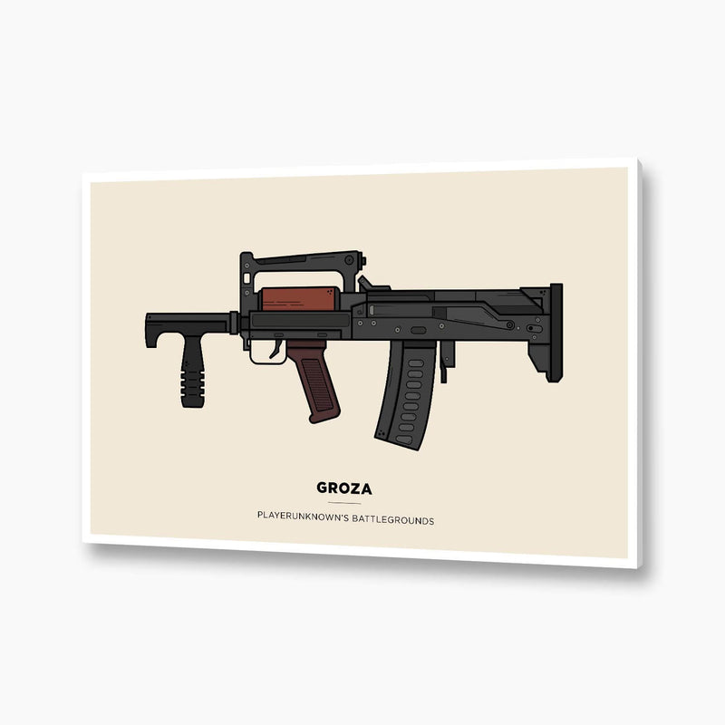 PUBG - Groza Illustration; Gaming Poster